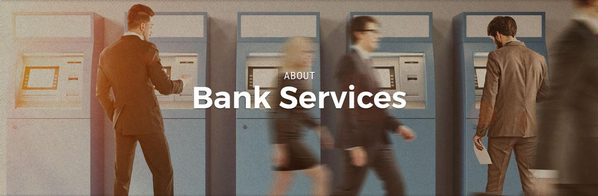 banner for bank services page