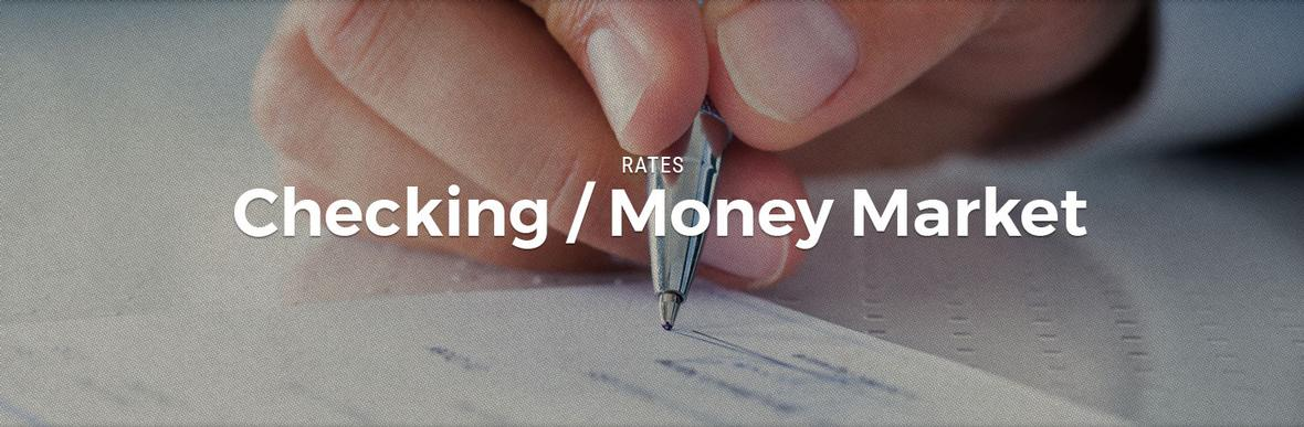 Banner picture for the Checking/Money Market Rates page for Central Federal Savings and Loan